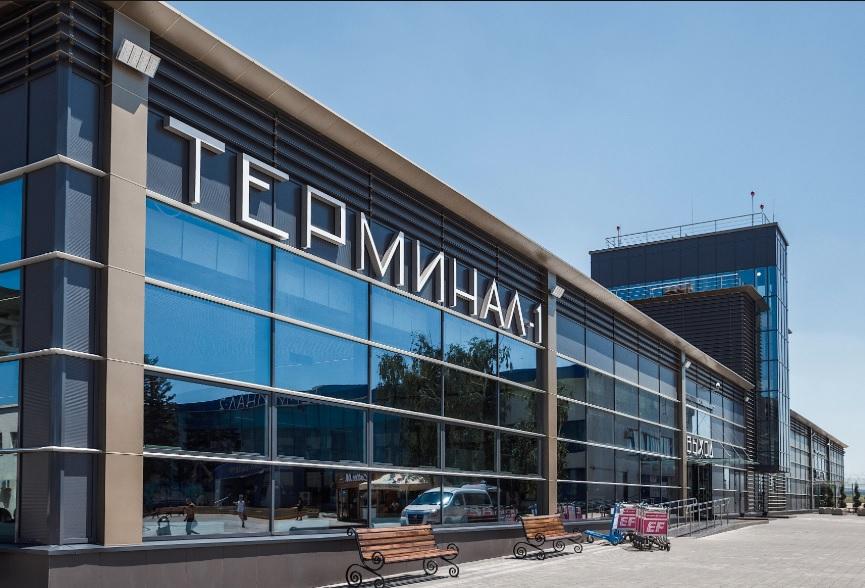 Новый терминал внутренних линий в Анапе. Принимает пассажиров с 2017 г.