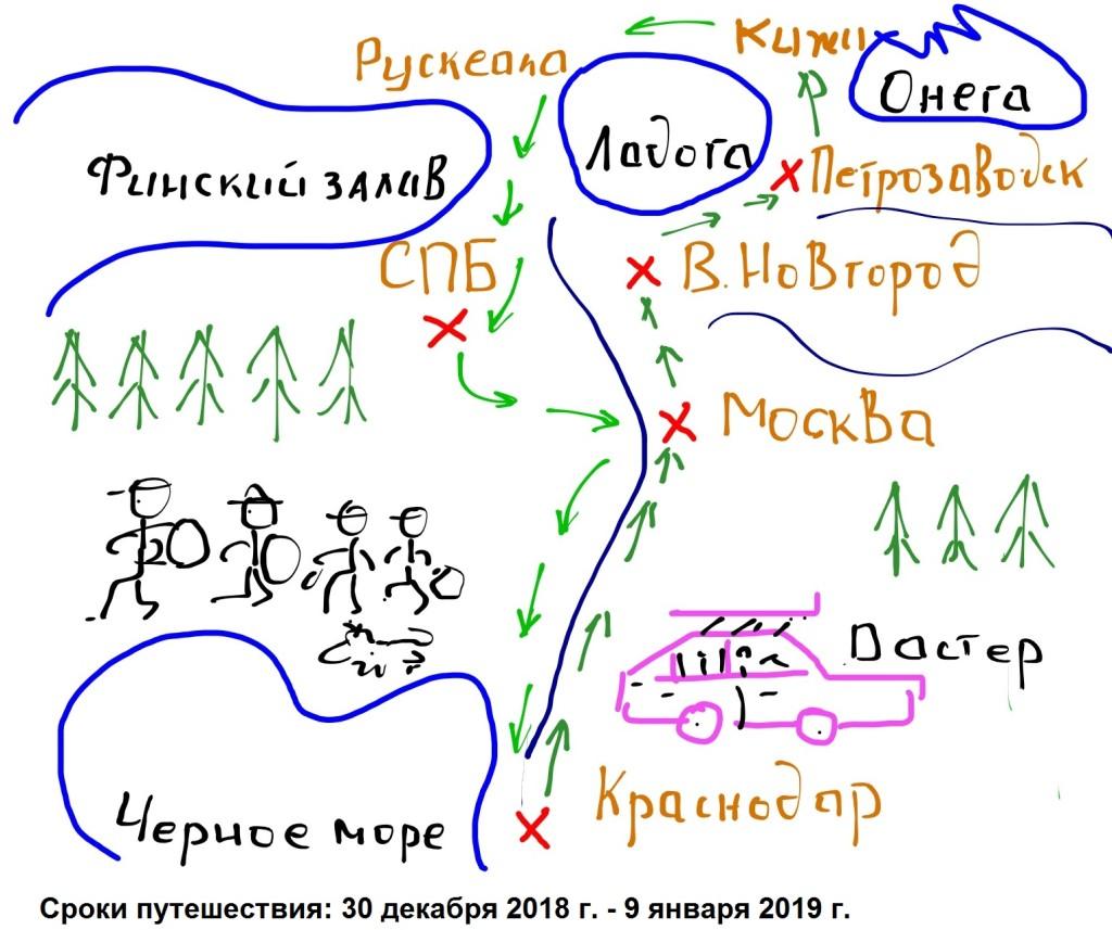Эскиз маршрута