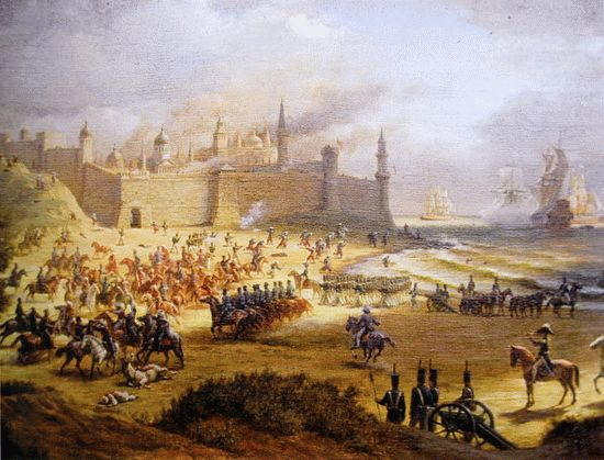 Бой под крепостью Анапа 28 мая 1828 г. (с работы Ю. Ковальчука)