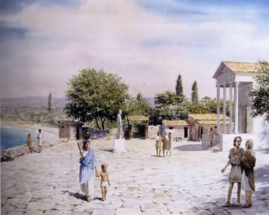 В древней Горгиппии (с работы Ю. Ковальчука)