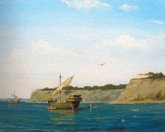 У берегов генуэзской Мапы (с работы Ю. Ковальчука)