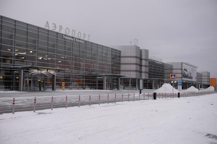 Аэропорт Кольцово зимой