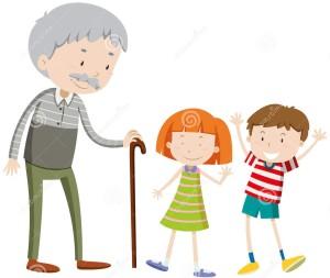 дети и старик