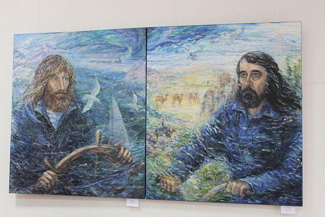 Картины Федора на выставке