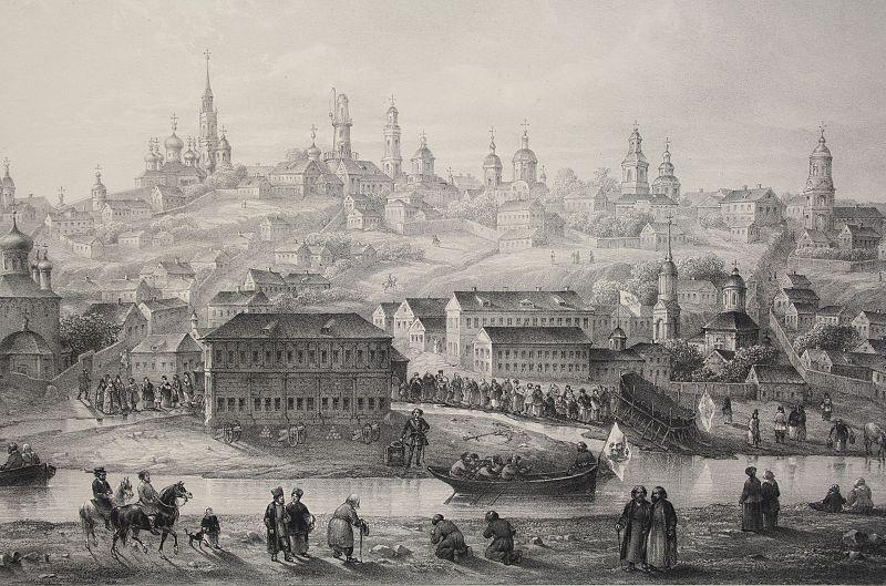 Воронежское адмиралтейство в начале 18 века.