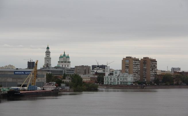 Вид на Астрахань с Нового моста