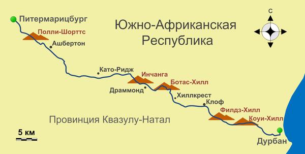 Схема трассы из Википедии