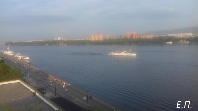 Панорама Енисея в центре Красноярска