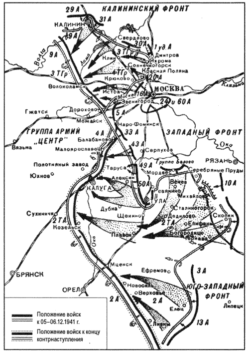 Карта Московской битвы