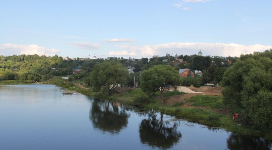 Панорама Зарайска на реке Осётр