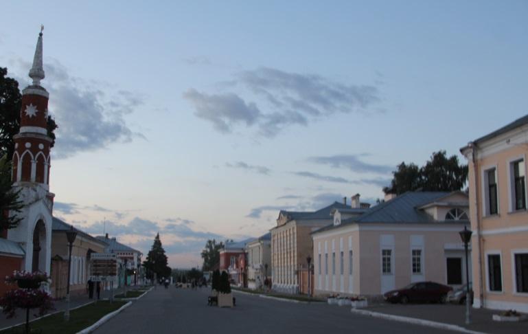 Улица Лажечникова в старой Коломне