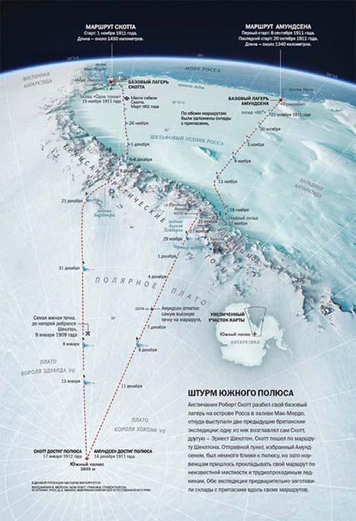 Карта двух экспедиций