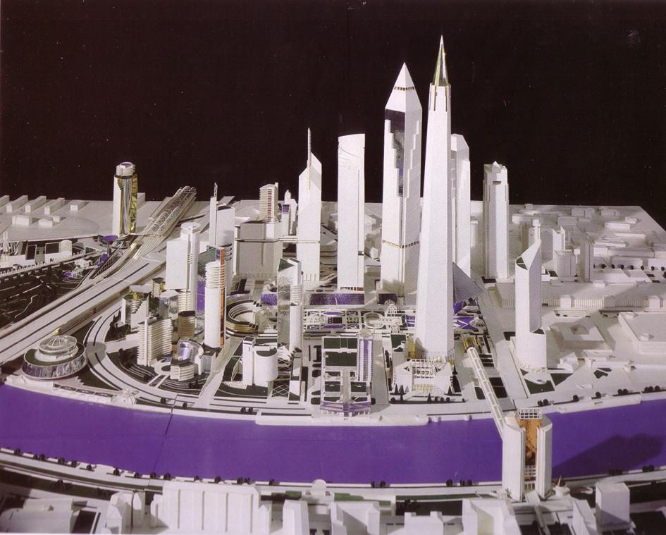 Первая планировочная модель Сити, разработанная Борисом Тхором (Фото: Музей «Москва-Сити»)