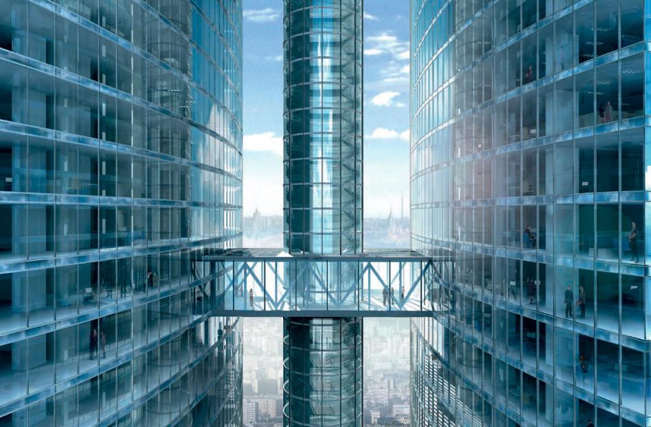 Проект перехода между башнями через шпиль (Фото: Музей «Москва-Сити»)