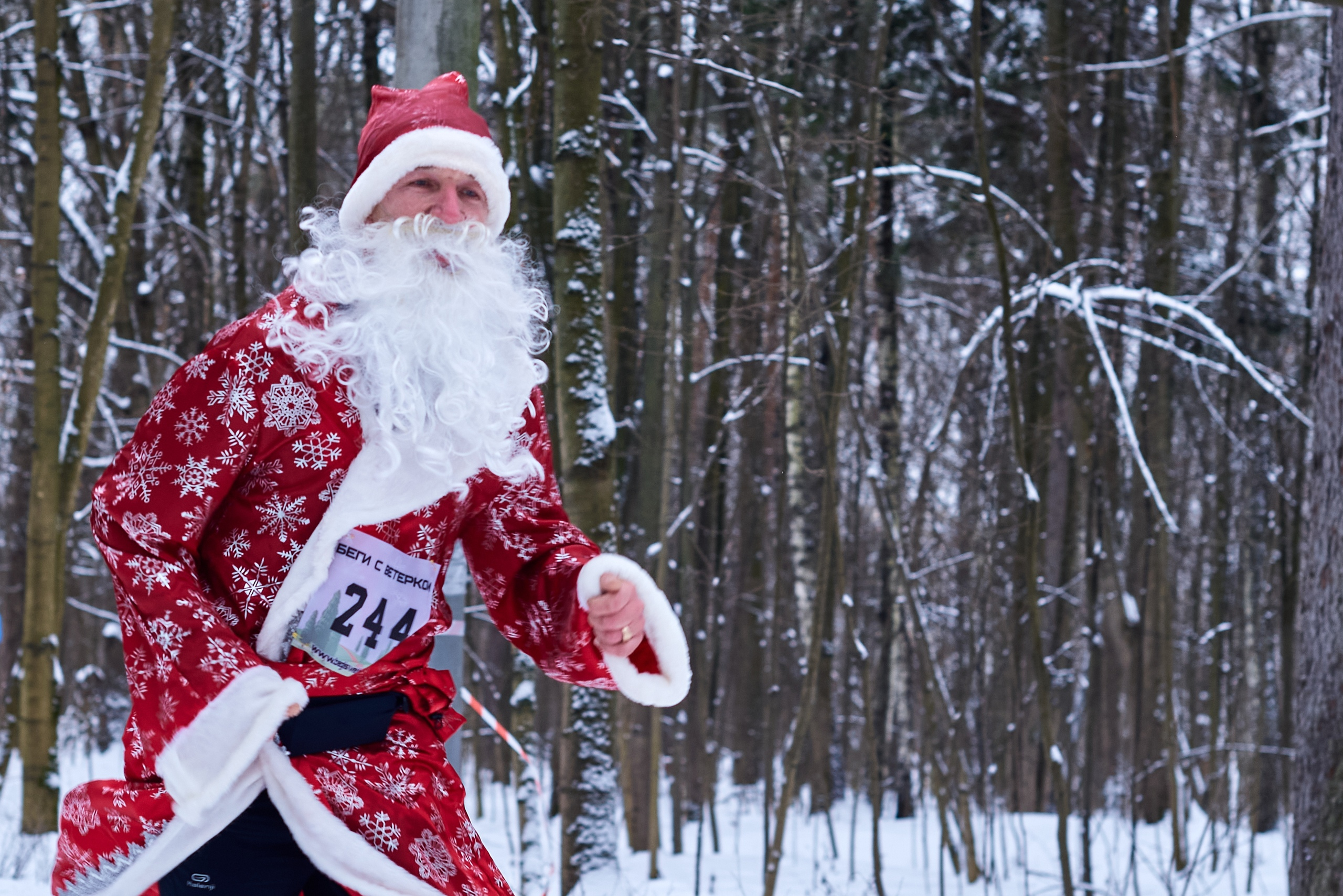Дед-Мороз и Новогодний кросс